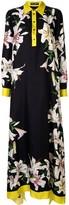 Dolce & Gabbana Lily-Print Asymmetric Dress