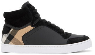 Burberry Black House Check Reeth High-Top Sneakers