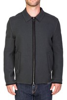 Lanvin Men's Wool Blouson Jacket Olive Green.