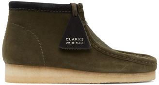 Clarks Khaki Pony Hair Wallabee Boots