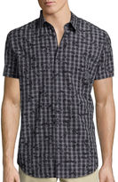 Jf J.Ferrar JF Short-Sleeve Woven Slim-Fit Shirt