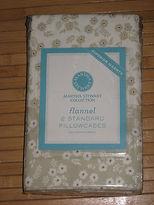 Martha Stewart Flannel Damask Floral Standard Pillowcase Set