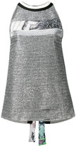 Aviu metallic blouse - women - Cotton/Polyamide/Polyester/Spandex/Elastane - 46
