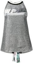 Aviu metallic blouse - women - Polyester/Polyamide/Cotton/Spandex/Elastane - 42