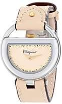 Salvatore Ferragamo Women's FG5030014 BUCKLE Analog Display Swiss Quartz Beige Watch