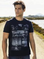 Jeanswest Harold Short Sleeve Print Crew Tee-Ink-XL