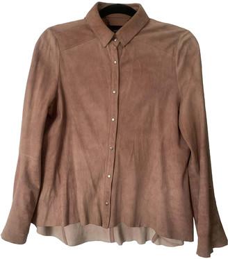 Muu Baa Muubaa Beige Suede Leather jackets
