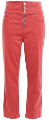 Joie Laurelle Cropped High-rise Straight-leg Pants