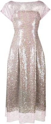 Talbot Runhof lace and sequin midi dress
