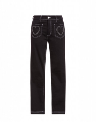 Love Moschino Stretch Jeans Woman Black Size 38 It - (4 Us)