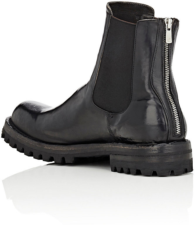 Officine Creative MEN'S WASHED LEATHER CHELSEA BOOTS