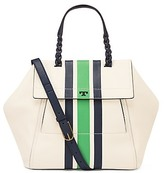 Tory Burch Half-Moon Stripe Satchel