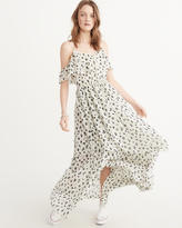 Abercrombie & Fitch Cold-Shoulder Maxi Dress