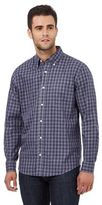 Maine New England Blue Gingham Print Tailored Fit Shirt