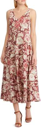 Chaps Petite Floral Cotton Fit--Flare Dress