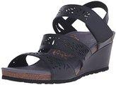 Aetrex Women's Lexi Laser Trip Strp Wdge Sndl Wedge Sandal