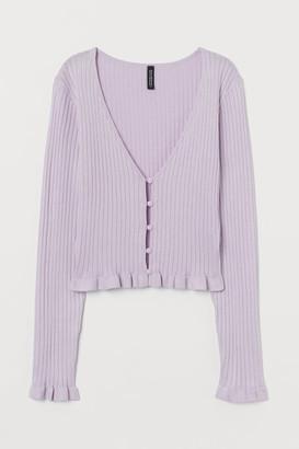H&M Short Cardigan - Purple