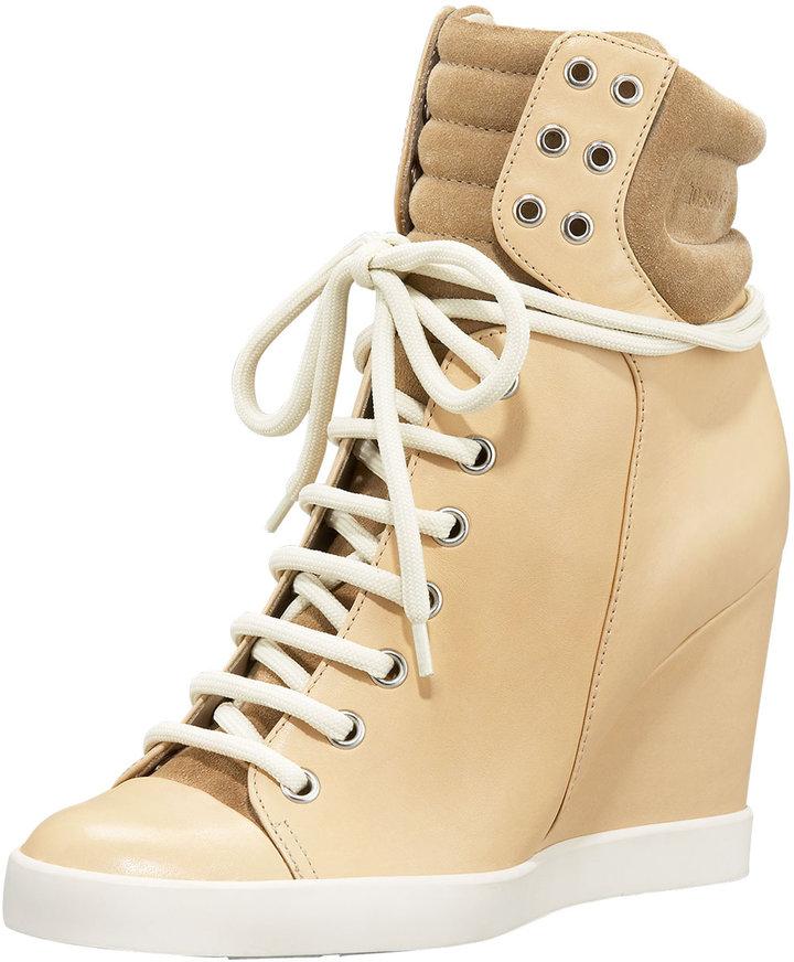 See by Chloe High-Top Wedge Sneaker