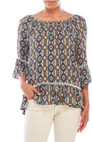 Fever Printed Peasant Top