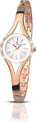 Accurist Womens Analogue Classic Quartz Watch with Brass Strap 8135.01