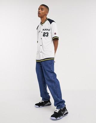 Karl Kani College baseball shirt in white