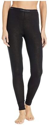 Icebreaker 175 Everyday Merino Base Layer Leggings (Black) Women's Casual Pants