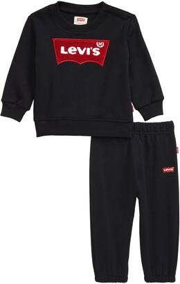 Levi's Logo Sweatshirt & Fleece Jogger Pants Set