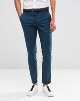 Selected Suit Pants In Super Skinny Fit with Stretch