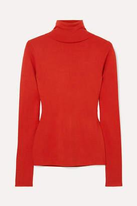Joseph Silk-blend Turtleneck Sweater - Red