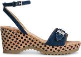 Stella McCartney 'Linda' wedge sandals - women - Cork/Cotton/Metal (Other)/rubber - 38.5