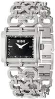Versus By Versace Women's SGE020012 Moda Stainless Steel Rectangular Black Dial Watch