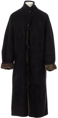 Saint Laurent Grey Suede Coats