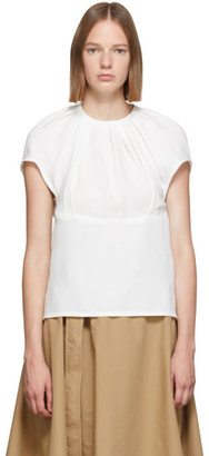 3.1 Phillip Lim White Pleated Short Blouse