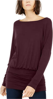 INC International Concepts Inc Ruched Dolman-Sleeve Top