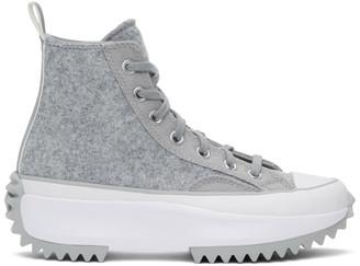 Converse Grey Run Star Hike High-Top Sneakers