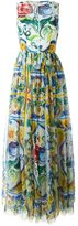 Dolce & Gabbana Majolica print evening dress - women - Silk/Cotton/Polyamide/Spandex/Elastane - 40