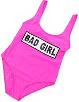 "DaiLiWei Womens ""BAD GIRL"" Vintage Swimsuit Swimwear Bathing Suit Padded Bikini"