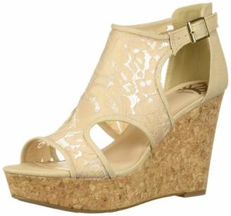 Fergalicious Women's Mackenzie Wedge Sandal Nude 11 M US