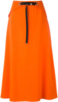 Thierry Mugler snap front midi skirt - women - Polyester/Acetate/Viscose - 38