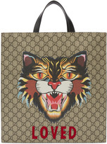 Gucci Beige loved Angry Cat Tote