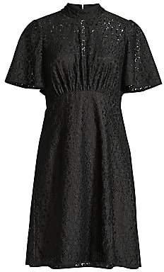 Kate Spade Women's Flora Leopard Lace Fit-&-Flare Dress - Size 0