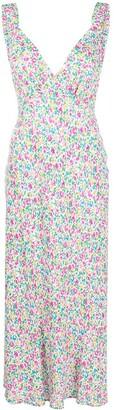 Rixo summer ditsy-print V-neck dress