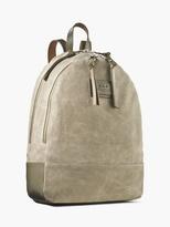John Varvatos Perforated Suede Backpack