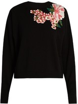 Dolce & Gabbana Floral-appliqué wool and cashmere-blend sweater