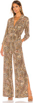 L'Agence Teddy 3/4 Sleeve Jumpsuit