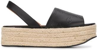 Kenzo Embossed Platform Espadrille Sandals