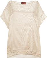 Missoni Glitter-finished crocheted silk-blend top