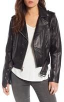 Sam Edelman Women's Starburst Studded Crop Moto Jacket