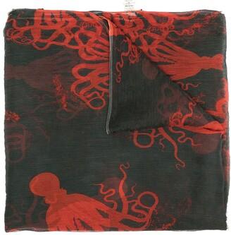 UMA WANG Graphic-Print Silk Scarf
