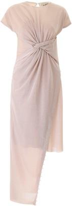 Lanvin Asymmetrical Lurex Dress
